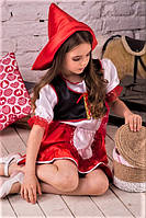 Детский карнавальный костюм красной шапочки 3-7 лет