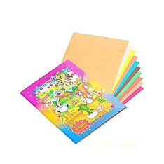 Бумага цветная БЦ-10, А4, 10 листов (Y)