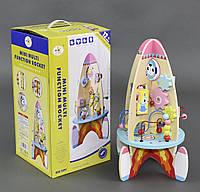 Деревянная игрушка Логическая ракета в коробке.