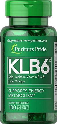 Puritan's Pride KLB6 Kelp Complex 100 Softgels, фото 2