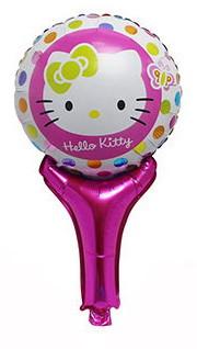 "Шар погремушка с ручкой ""Kitty"". Размер: 50см*30см."