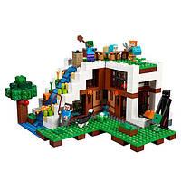 "Конструктор Lele 33052 ""База на водопаде"" (аналог Lego Майнкрафт, Minecraft 21134), 744 дет KK"