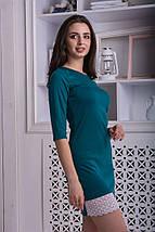 Женственное платье мини с красивой отделкой из кружева, фото 2