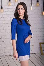 Женственное платье мини с красивой отделкой из кружева, фото 3