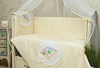 Бампер (бортики) на детскую кроватку Улитка