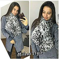 Очень теплый шарф из эко меха кролика (для взрослых и детей)