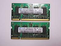 Оперативная память для ноутбука 1GB Samsung M470T6554EZ3-CD5 2Х512 MB PC2-4200S