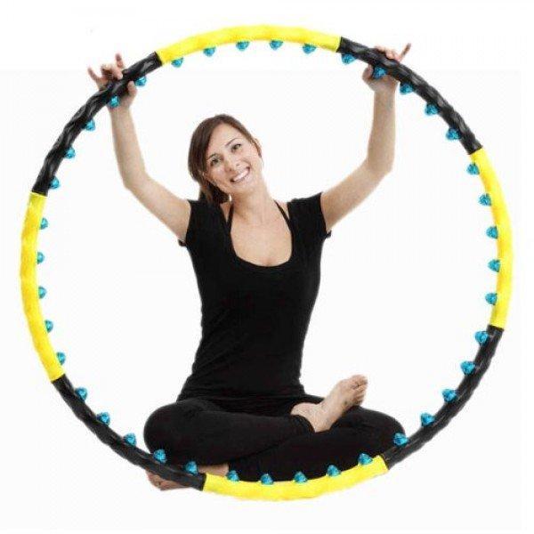 Обруч хулахуп массажный для похудения талии c шариками Hop-Sport (8001)