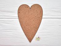 """Подвеска деревянная """"Сердце"""", 8см * 5,2см * 0,3см, МДФ"""
