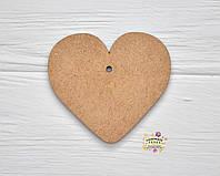"""Подвеска деревянная """"Сердце"""", 8см * 7,5см * 0,3см, МДФ"""