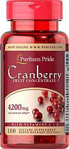 Экстракт клюквы Puritan's Pride Cranberry Fruit Concentrate with C & E 4200 mg 100 Softgels