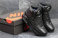 Зимние кроссовки Nike Air Max 90 ,чёрные