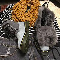 Dr.Martens зимние женские ботинки на овчине, фото 1