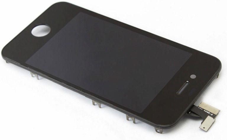 Модуль iPhone 4 black с рамкой (оригинал) дисплей экран, сенсор тач ск