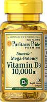 Витамин  Д3, Puritan's Pride Vitamin D3 10000 IU 100 Softgels
