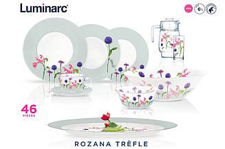 Rosana Trefle Сервиз столовый 46 пр. Luminarc N2171