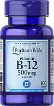 Вітамін B12, Puritan's Pride Vitamin B-12 500 mcg 100 Tablets