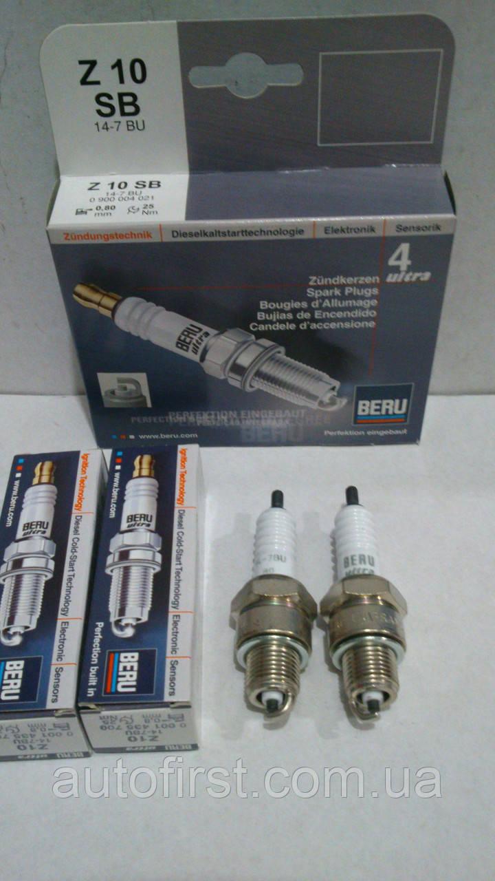 Свечи зажигания комплект Beru Z10 14-7BUE
