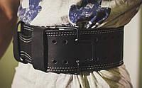 Пояс для пауэрлифтинга со скобой кожаный 3 слоя Onhillsport размер XXL (OS-0365-5)
