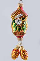 Формовая новогодняя игрушка Часы с Кукушкой