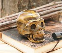 Череп каменный Тигровый Глаз (8х6х4 см)