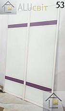 Раздвижные двери купе в гардеробные зеркало сатин, ДСП, лакобель, пескоструй, фотопечать, фото 2