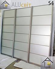 Раздвижные двери купе в гардеробные зеркало сатин, ДСП, лакобель, пескоструй, фотопечать, фото 3