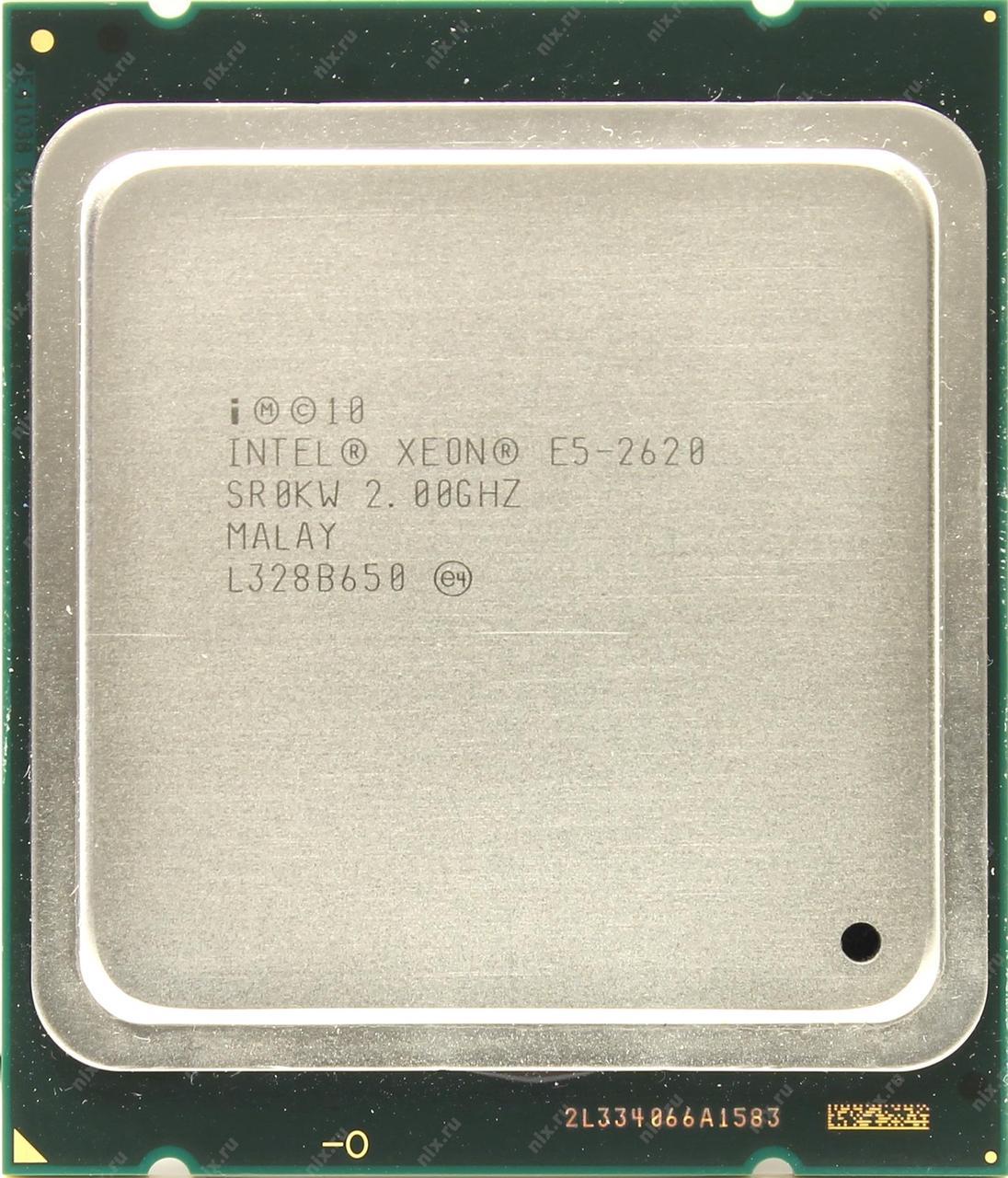 Процессор Intel Xeon E5-2620 2.0-2.5 GHz, 6 ядер, 15M кеш, LGA 2011