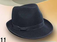 Мужская  шляпа из фетра  маленькие  поля 4.5 см