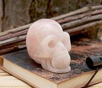 Череп каменный Розовый Кварц (8х6х4 см)