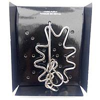 Головоломка металлическая проволочная Дубовый Лист (Kaisiqi Puzzle)