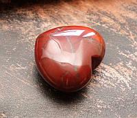 Сердце каменное Красная Яшма (4,5х4х2,2 см)