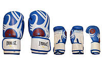 Боксерские перчатки EVERLAST (10oz, синий-белый)