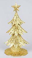 Декоративная елка, металлическая, цвет: золото 30 см