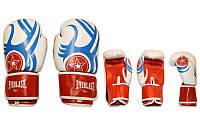 Боксерские перчатки EVERLAST (12oz, синий-белый-красный)