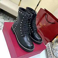 Valentino женские зимние ботинки заклепки на меху