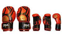 Боксерские перчатки EVERLAST (12oz, черно-красный)