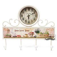 Часы настенные - вешалка Sweet home