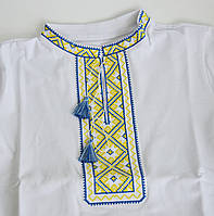 """Вышитая футболка с коротким рукавом """"Патриот"""" для мальчика к школе"""