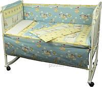 Спальный комплект для детской кроватки Руно 977 Журавлик