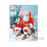 Пазл-вкладыш Дед Мороз в лесу серия МАКСИ Larsen DW-JUL7