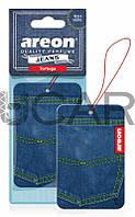 Areon Jeans Tortuga ароматизатор картонный