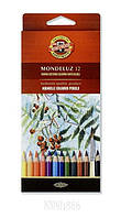 Карандаши цветные акварельные Mondeluz. Набор 12 шт   KOH-I-NOOR