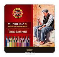 3724 Набор профессиональных акварельных карандашей 24 Mondeluz (метал. кор.) | KOH-I-NOOR