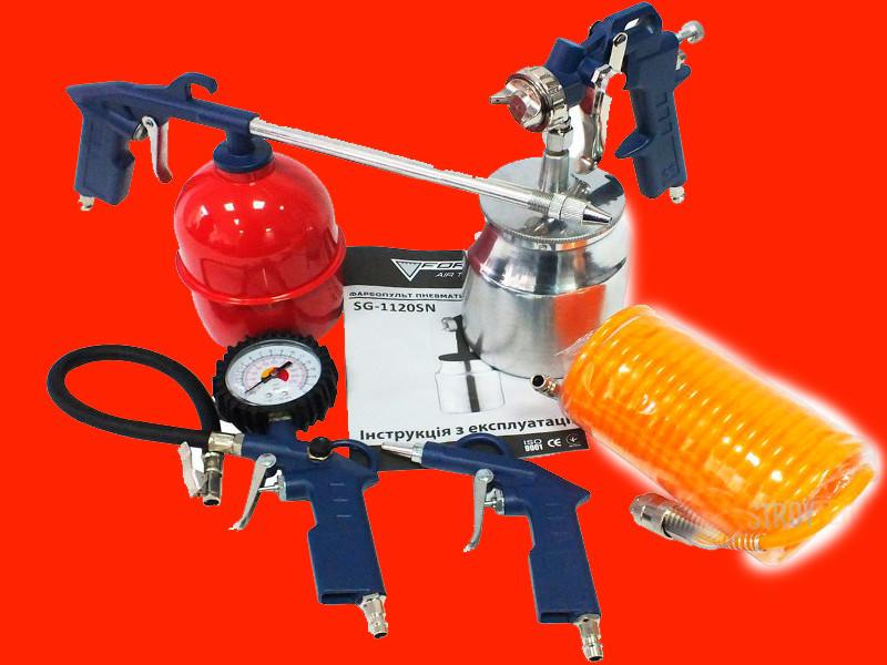 Набор пневмоинструментов для компрессора Forte AT KIT-5S