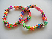 Плетенные цветные браслеты, продажа бижутерии оптом (12 шт). 729