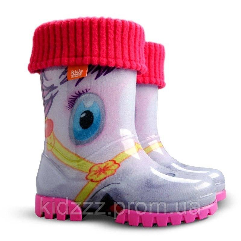 Детские резиновые сапоги Twister  LUX PRINT Пони  Demar (Демар)