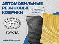 Резиновые коврики в салон TOYOTA YARIS 99- (Тойота Ярис) (design 2016)