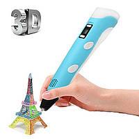 Горячая 3D ручка принтер с Экраном, 3D конструктор, жидкий пластик, 3D ручка MyRiwell, RP-100B