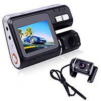 Видеорегистратор DVR I1000, автомобильный видеорегистратор на 2 камеры, видеорегистратор в автомобиль
